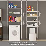 ALLZONE 4 Tier Over Commode Shelving, Over The