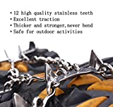 Aufarchi 12 Teeth Ice Claws Crampons Non-slip Shoes Cover...