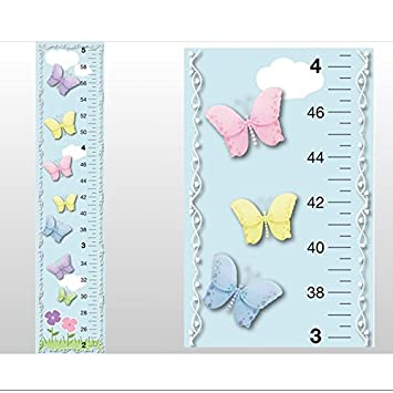 Amazon Growth Chart Butterfly Garden Clouds Sky Flowers