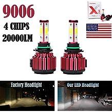 2Pcs 9006 LED Headlight Bulbs Conversion Kit HB4/9012 Car Headlamp 20000LM 6000K Cool White Hi/Lo Beam DRL Fog Light Replace for Halogen HID - Plug and Play