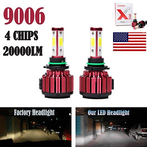 2Pcs 9006 LED Headlight Bulbs Conversion Kit HB4/9012 Car Headlamp 20000LM 6000K Cool White Hi/Lo Beam DRL Fog Light Replace for Halogen HID - Plug and Play (Bulb Led 9006 6000k)