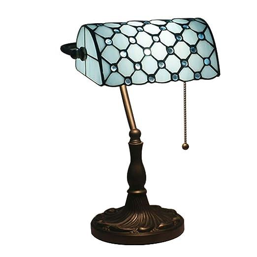 XBECO Banco lámparas Mesa Tiffany Estilo lámpara Mesa iluminación ...