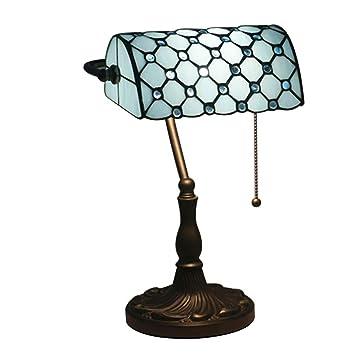XBECO Banco lámparas Mesa Tiffany Estilo lámpara Mesa ...