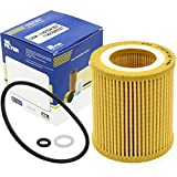 Hisenic BMW Oil Filter SEH 816 X Metal Free Replace Mann Filter HU 816X MAHLE OX 387D Used for BMW Engine 1 Series M 325i X1 X 3 X4 X 5 X6 Z4