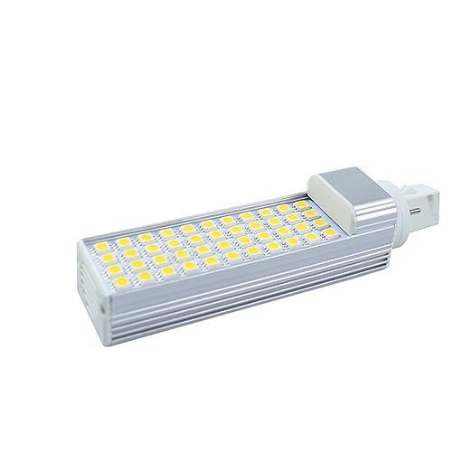 Bombilla LED G24 2 Pins Lámpara Máiz LED, 50 LED SMD2835 ,180 grados,