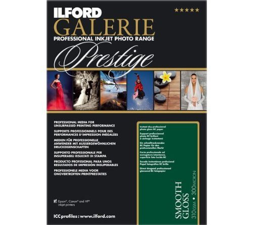 Ilford Galerie Prestige Smooth Gloss Photo Paper - A3+ - 310 G / M2-25 Sheets