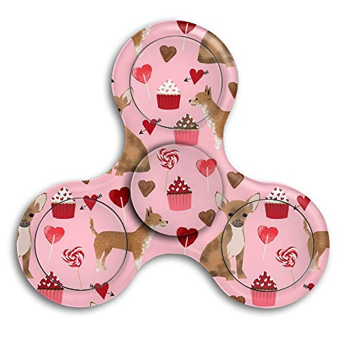 Gdy2ds1ku Valentines Cute Cupcakes Chihuahua Fidget Spinner for