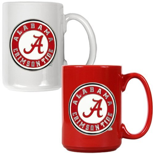 NCAA Alabama Crimson Tide Ceramic Mug Set with Primary Logo (2-Piece)