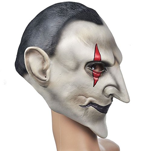 Amazon.com: Yeduohorror Devils Latex Scary Mask Earl of Hell Face Vampire Bloodsucker Halloween Masquerade Mascara Terror Cosplay Party Props: Home & ...