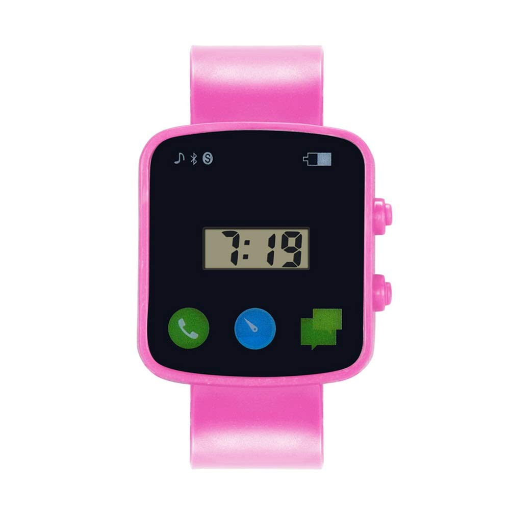 AGUIguo Watches for Kids Children Fashion LED Sport Watches (Pink)