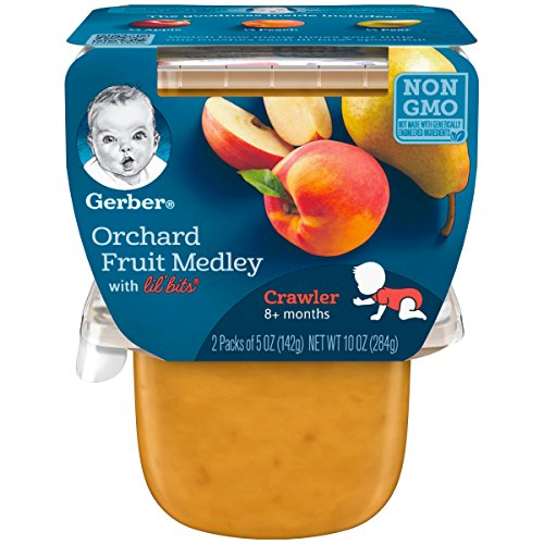 Foods Fruit Medley (Gerber 3rd Foods Orchard Fruit Medley with Lil' Bits, 5 Ounce Tubs, 2 Count (Pack of 6))