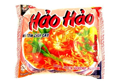 Hao Hao Mi Tom Chua Cay (Hot Sour Shrimp Flavor Noodle) - 2.7oz [Pack of 30]