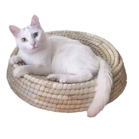 Artesanía natural Cama de descanso para gatos Cama para ...