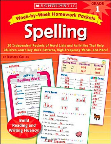 Amazon.com: Week-by-Week Homework Packets: Spelling: Grade 1: 30 ...