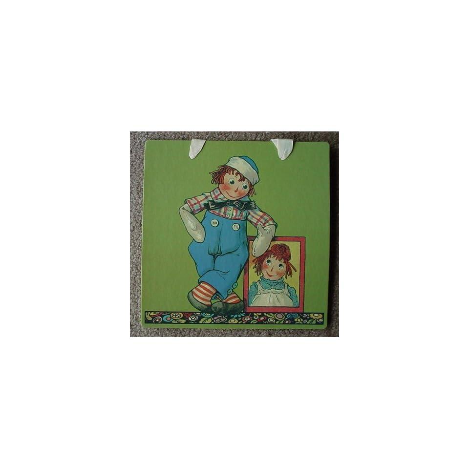 RAGGEDY ANDY Adores RAGGEDY ANN Wall Decor NURSERY ART CARD 8 1/2 Ready to Hang