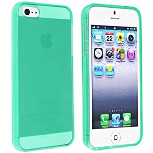 Semoss Funda de Tpu Silicona Carcasa Cover Para Apple iPhone 5 5S Verde