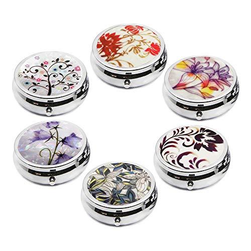 6Pcs Elegant Pill Box Case, Creatiee-Pro Portable