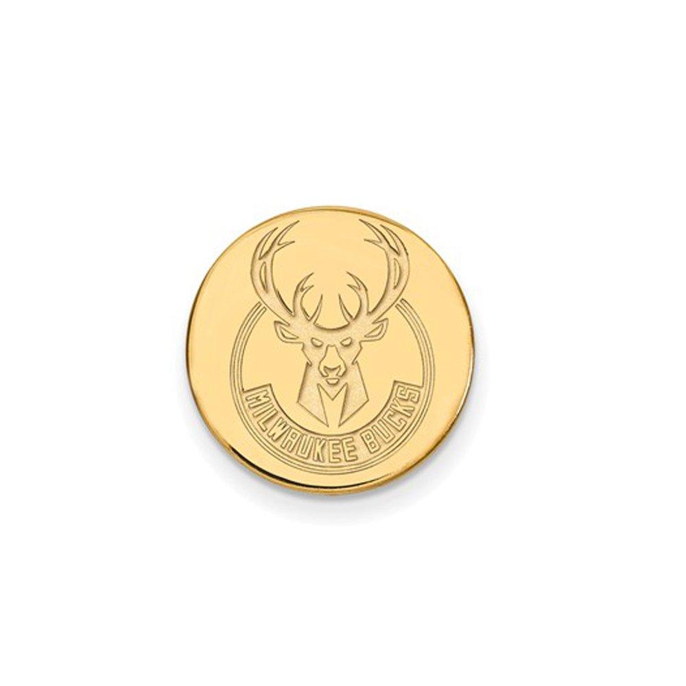 NBA Milwaukee Bucks Lapel Pin in 14K Yellow Gold by LogoArt