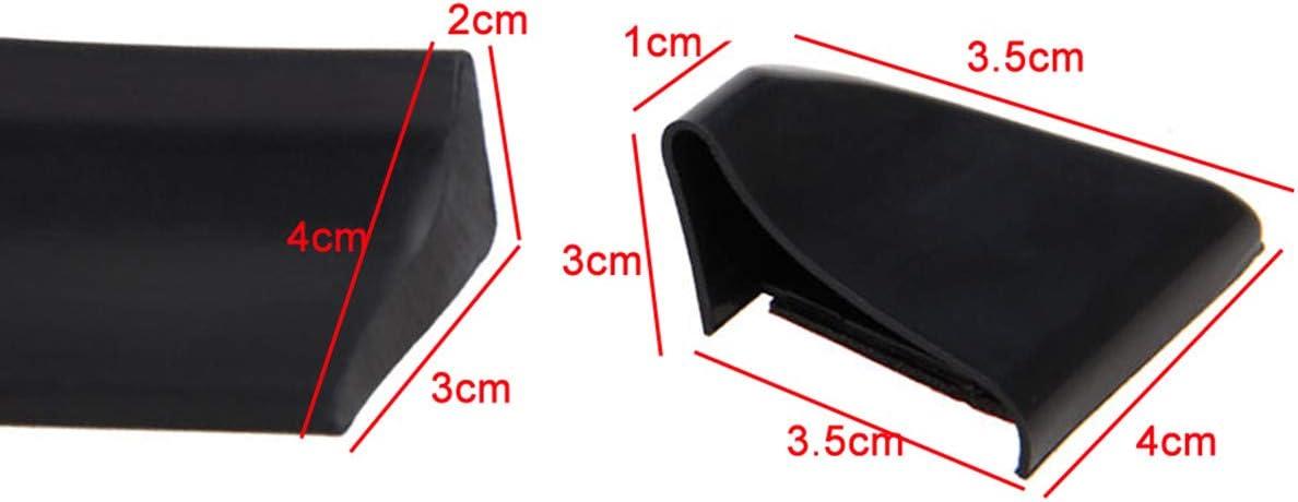 Xej Auto Rear Spoiler Lippe Flügel Heck 1 5m Universal Spoilerlippe Tail Gummi Tape 3 5cm X 1 5m Schwarz Auto