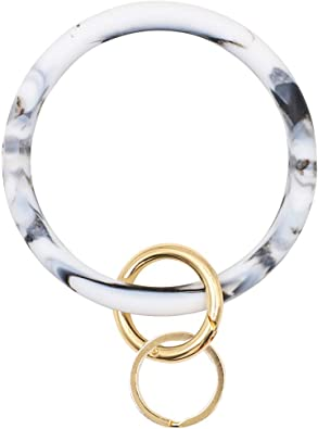 Keychain Bracelet Keyring Bracelet Cute Keychain Women Keychains For Women Marble Keyring Wristlet Keychain Silicone Keyring