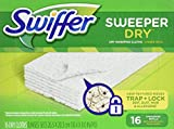 #2: Swiffer Sweeper Dry Sweeping Pad Refills for Floor mop Unscented 16 Count