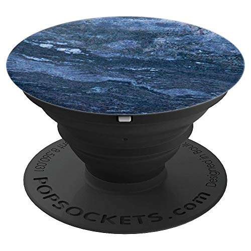 Blue Lapis Handle - Texture looks like Blue Marble Blue Stone Blue Lapis Lazuli - PopSockets Grip and Stand for Phones and Tablets