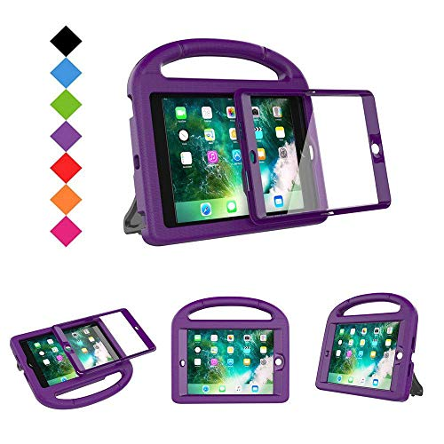 BMOUO Case for iPad Mini 1 2 3 - Built-in Protector, Shockproof Hard Cover Stand Kids Case for iPad Mini 1st 2nd 3rd Generation, Purple