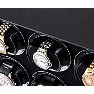8 Watch Winder with Telescopic Watch Holders and LCD Touchscreen Display