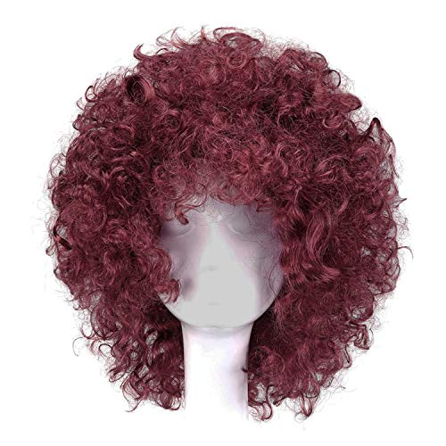 14 inch Afro Wig Kinky Curly Hair Black