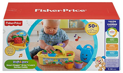 512gZK lAsL - Fisher-Price Laugh & Learn Smart Stages Grow 'n Learn Garden Caddy (Amazon Exclusive)