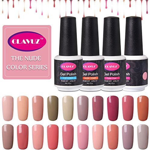 CLAVUZ Gel Nail Polish Nude Soak Off UV Led Gel Nail Polish Salon Nails Art Manicure 8ML