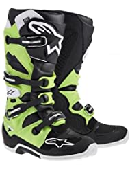 Alpinestars Tech 7 Boots (13, Black/Green)