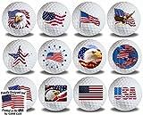 US Flags 12 pk