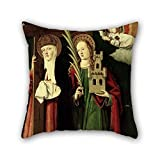 Uloveme 20 X 20 Inches / 50 By 50 Cm Oil Painting Master Of Manzanillo - The Catholic Kings With Santa Elena And Santa Bárbara Pillow Cases,two Sides Is Fit For Relatives,sofa,boys,sofa,coffee Hou