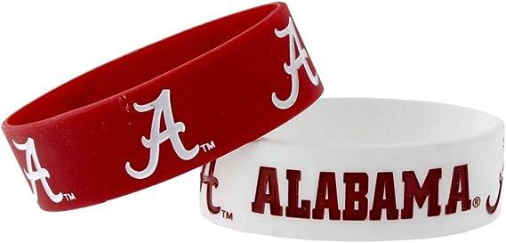 aminco NCAA Alabama Crimson Tide Dual Color Stretch Bracelet
