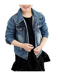 HomeToy Girls Boys Denim Jacket Children Long Sleeve Cowboy Outwear