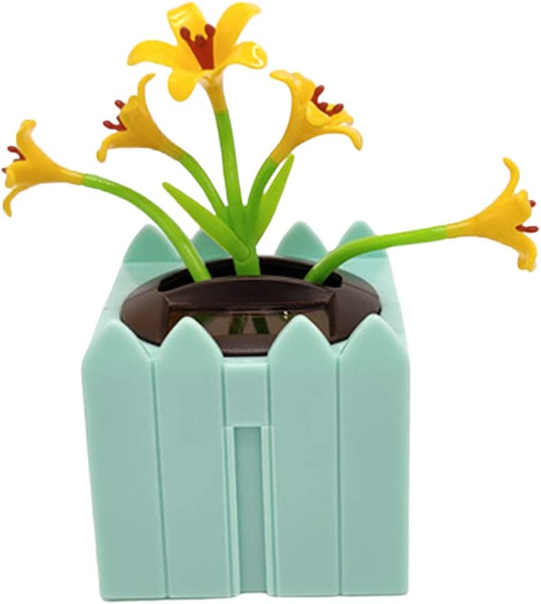 Blue CUTICATE Swing Dancing Flower for Home and Car Decoration Solar Power,Fun Desktop Decor Gift for Car Home Office