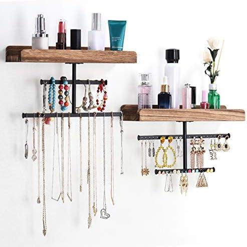Mingtongli 9pcs Bijoux Hanging Organisateur Ensemble adh/ésif Mural Porte-Collier en Plastique Hanger Accessoires de Rangement