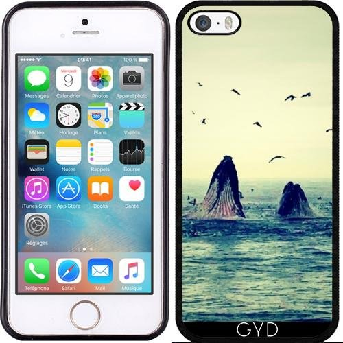 Coque pour Iphone SE - Baleines by WonderfulDreamPicture