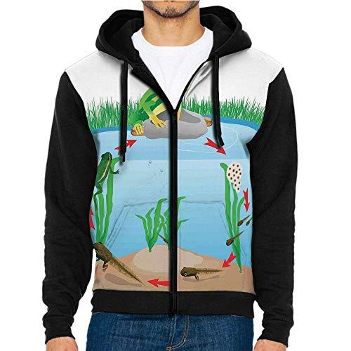 3D Printed Hooded Sweatshirts,Presents with Aquatic Elements,Hooded Casual Pocket Sweatshirt