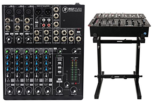 Mackie 802VLZ4 8-channel Compact Analog Low-Noise Mixer w/ 3 ONYX Preamps+Stand
