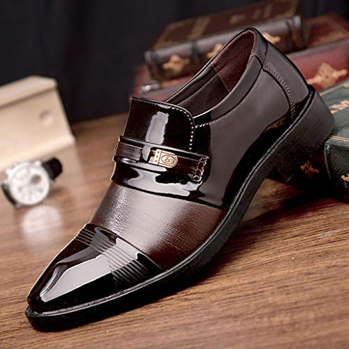 Kstare Men's Classic Dress Shoes Modern Fashion Pointed Toe Lace Up Leather Oxford Formal Wedding Business Shoe