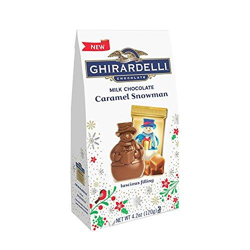 Ghirardelli Milk Chocolate Caramel Snowman Bag, 5.9oz ()