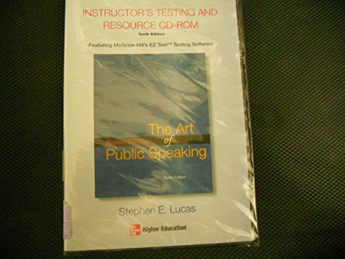 The Art of Public Speaking, Instructor's Testing and Resource