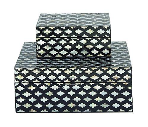Deco Mop (Deco 79 Wood Mop Inlay Box S/2 8