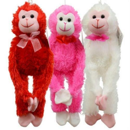 Fuzzy Monkey Plush Animal Multi Pack of (Mechanical Monkey)