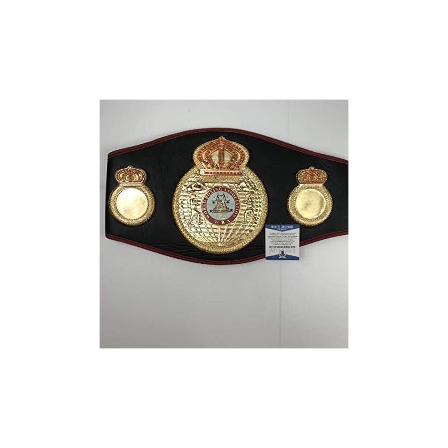 Autographed/Signed Floyd Mayweather Jr. WBA Boxing Replica Championship Belt Beckett BAS COA