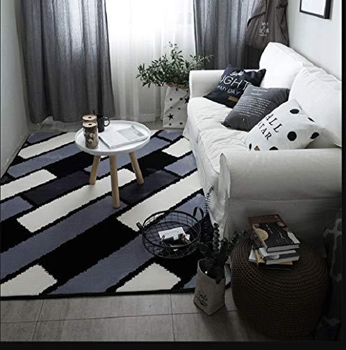 ZXUE Nordic Carpet Bedroom Living Room Doormat Full Shop Room Bedside Table Sofa Office Rectangular Floor Mats Home Non-Slip Mats (Color : D, Size : 80x185cm(31x73inch))