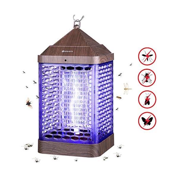 YUNLIGHTS Zanzariera Elettrica, 9W Lampada Antizanzare Elettrica Interno con Luce UV e Cassetto Raccogli, Lampada… 1 spesavip