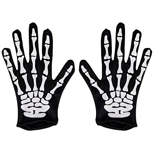 Halloween Gloves - Kangaroo's Halloween Accessories - Skeleton Gloves